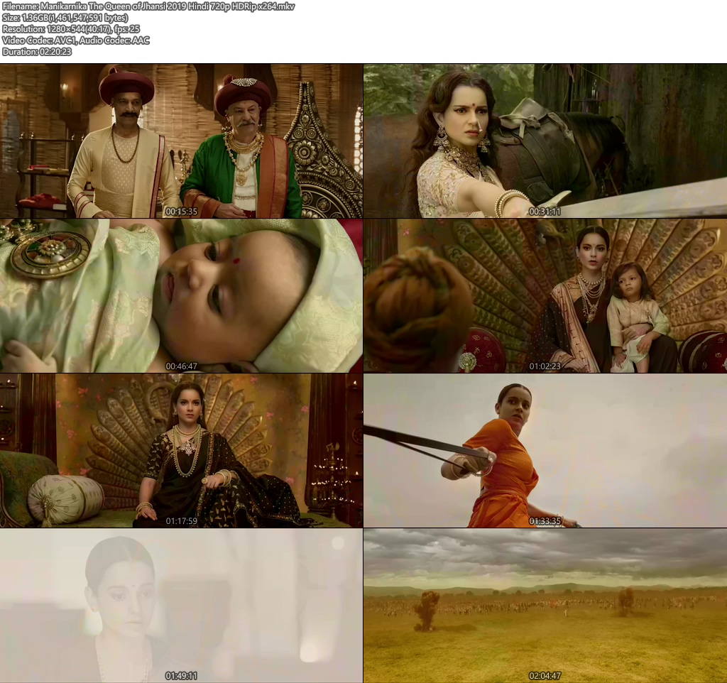 Manikarnika The Queen of Jhansi 2019 Hindi 720p HDRip x264 | 480p 300MB | 100MB HEVC Screenshot