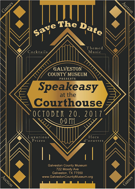 "Galveston County Museum presents ""Speakeasy at the Courthouse"", a Roaring 20's fundraising event for the Grand Re-opening of the GCM"