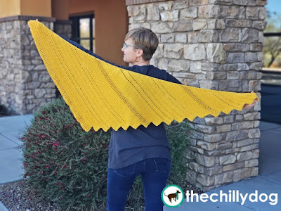 6 Later Delight Shawl Pattern Release Announcement: This triangular shawl is easy to wear, fun to style and shines in any colorway!