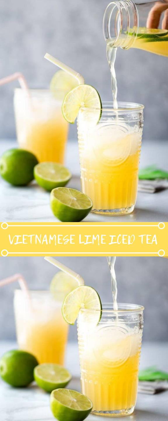 VIETNAMESE LIME ICED TEA #tea #drink #icedrink #fres #cocktail