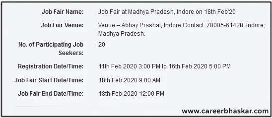 Job Fair, Indore (M.P)