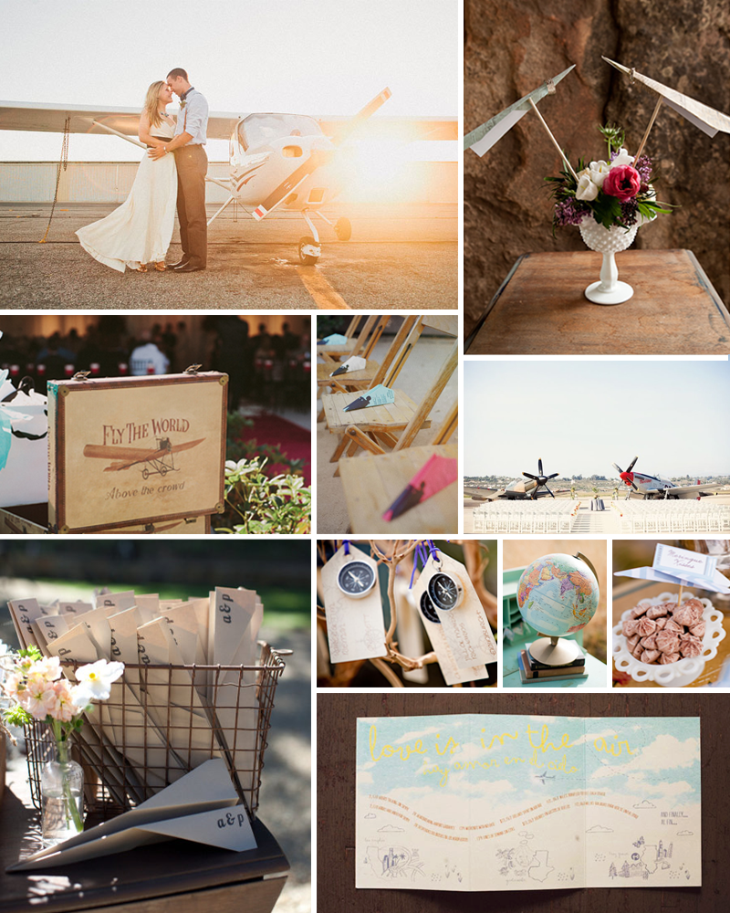 Photo Credits Bride And Groom Via Green Wedding Shoes Photography By Hello Studios Bouquet With Paper Airplanes S