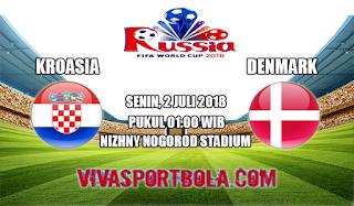 Prediksi Bola Kroasia vs Denmark 2 Juli 2018