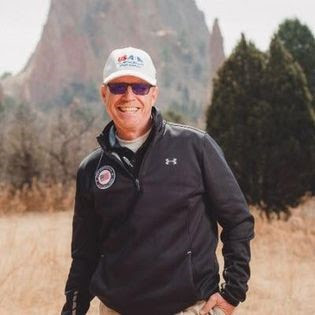 Mark Lucas standing on a trail in Garden of the Gods, Colorado Springs