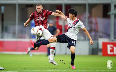 ملخص واهداف مباراة ميلان وبولونيا (5-1) فى الدوري الايطالي