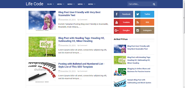Download Template Original Simplify 2 Premium Blogger Responsive (Arlina Design)