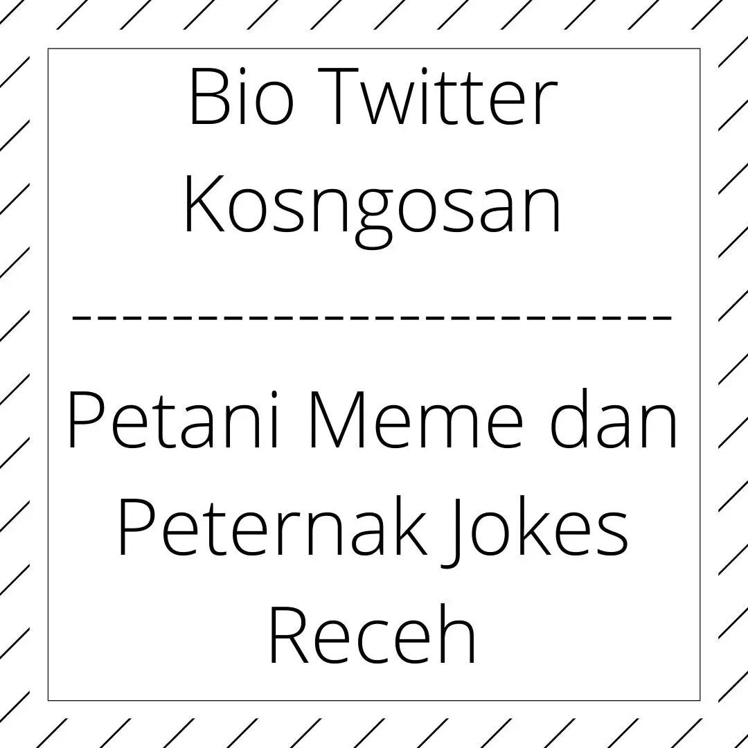 contoh bio twitter