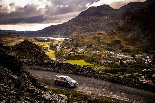 Elfyn Evans on Wales Rally GB in Ford Fiesta WRC Car