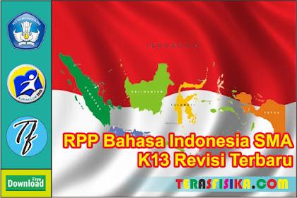 Download RPP Bahasa Indonesia Kelas 10 SMA K13 Update 2019