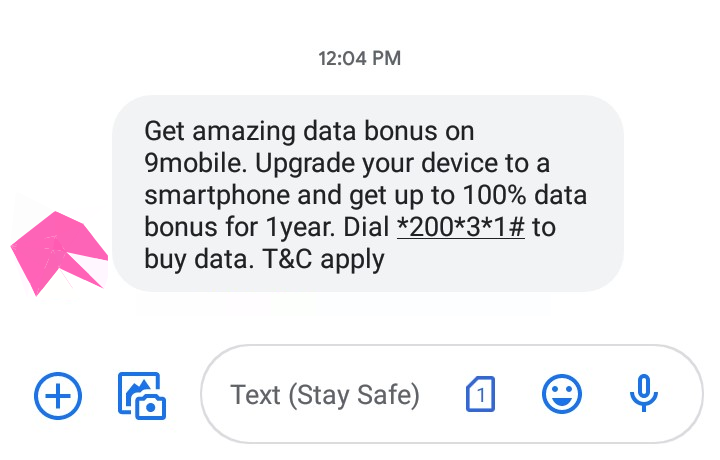 9mobile 100% data offer