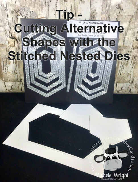 Tip, Stitched Nested Dies, Alternative Shapes, Die Cutting