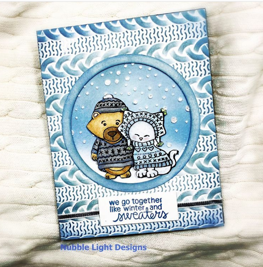 We go together like sweaters and winter by Nubble Lights Designs features Sweater Weather by Newton's Nook Designs; #newtonsnook, #inkypaws, #wintercards, #cardmaking
