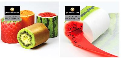 Makro Ambalajdan Meyve Görünümünde Tuvalet Kağıtı Tasarımı