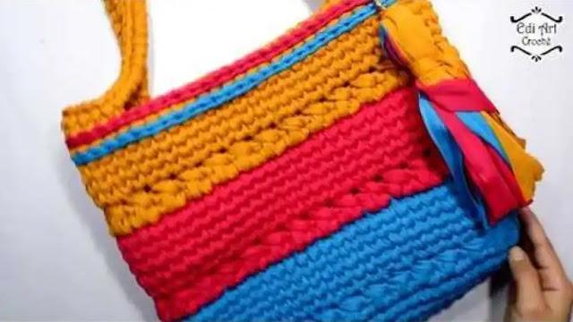 Bolso en Trapillo a Crochet