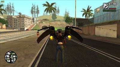 GTA San Andreas Jetpack From Batman Arkham Mod