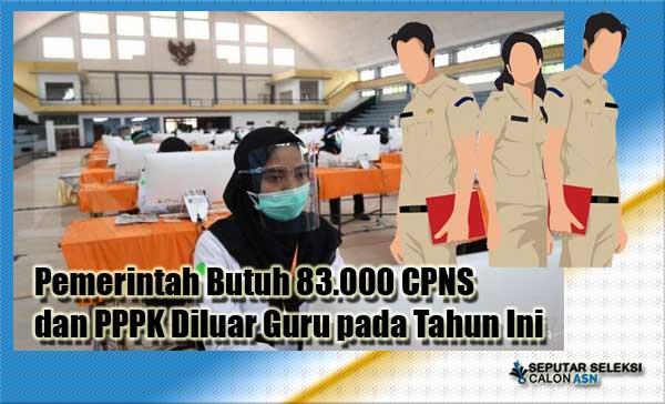 Pemerintah Butuh 83.000 CPNS dan PPPK Diluar Guru pada Tahun Ini