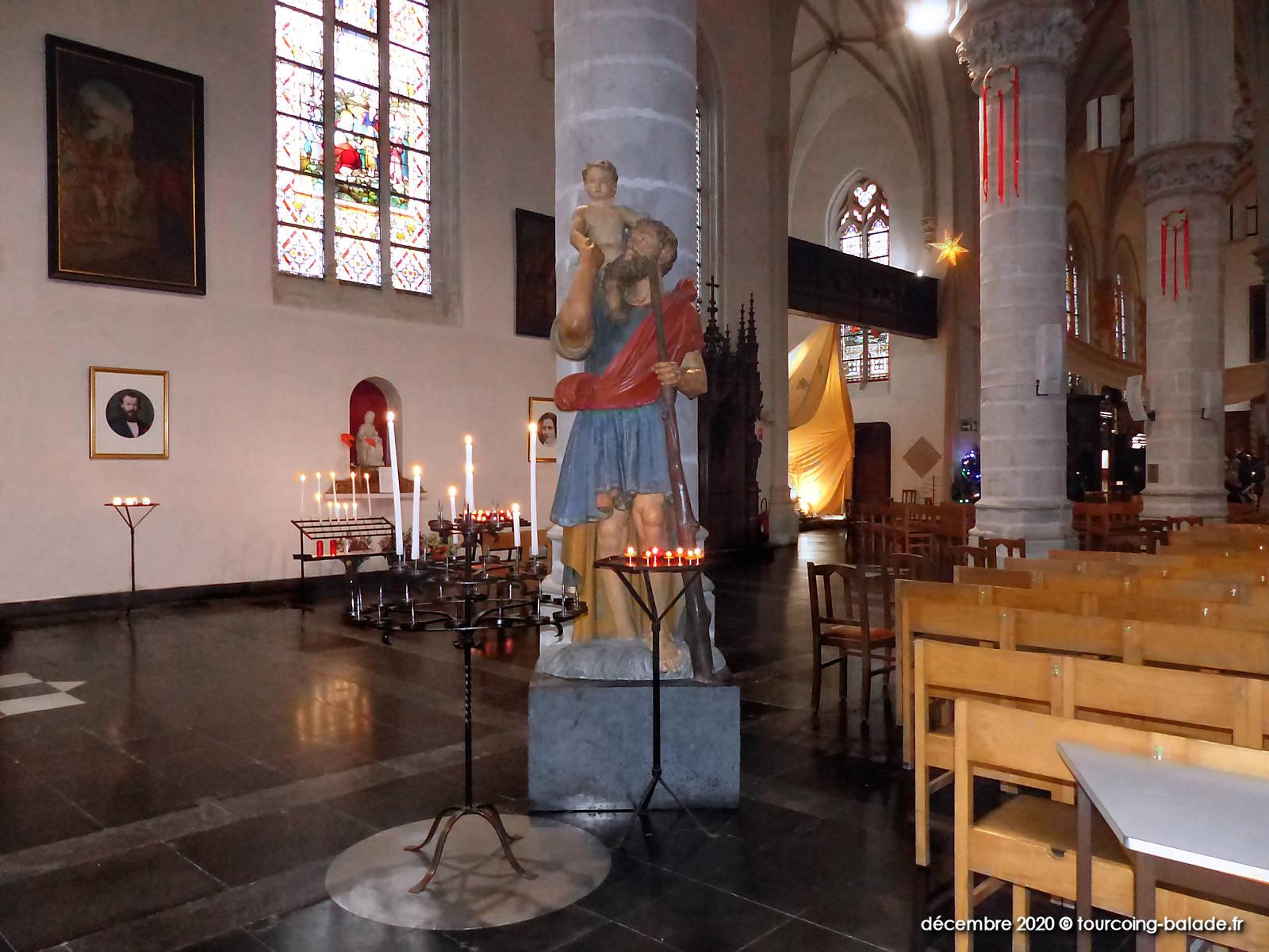 Patrimoine de Tourcoing - Statue Saint Christophe