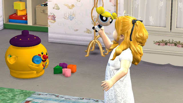 Sims 4 Custom Content (cc) Download: Powerpuff Girls Toy Set for Toddlers and Kids