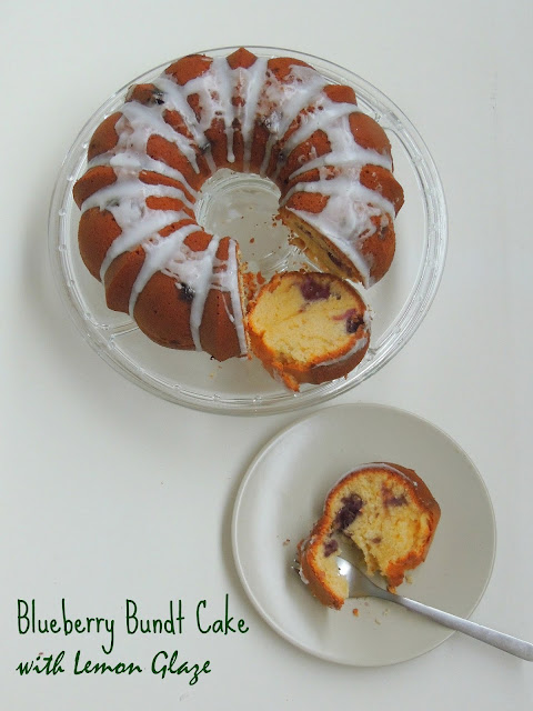 Blueberry bundt cake, Blueberry Pound cake with Lemon glaze