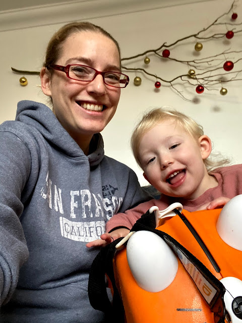 Selfie with me, my 3 year old and our 6 year old tiger Trunki