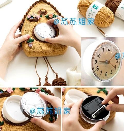 Часы с кукушкой для детей крючком (2)