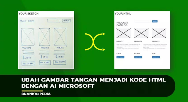 Ubah Gambar Tangan menjadi Kode HTML