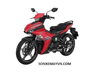Bán Sơn xe máy YAMAHA EXCITER màu đỏ đen