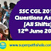 SSC CGL Questions Asked 12th June 2019