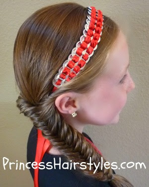 fishtail braid with pop tab headband