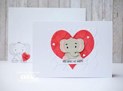 cute Elephant love card