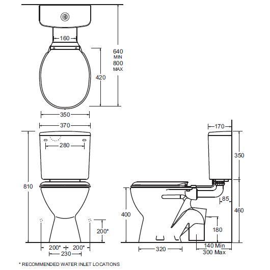 Modecor Toilet Suites: Gemini Plaza Deluxe Connector