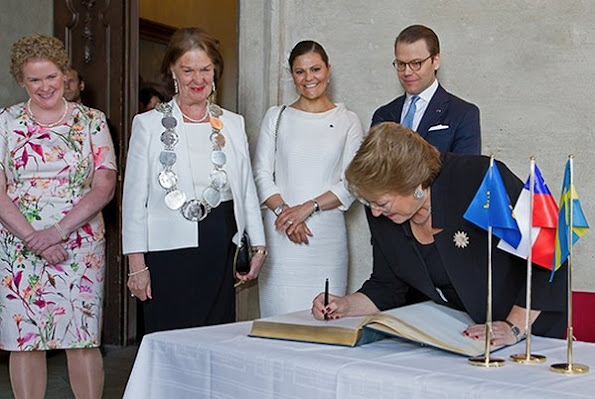 King Carl Gustaf and Queen Silvia of Sweden, Crown Princess Victoria, Prince Daniel and Prince Carl Philip of Sweden held a lunch in honour of Chilean President Michelle Bachelet