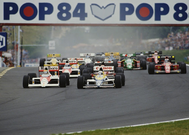 Largada do GP da Hungria de 1989, em Hungaroring — Foto Getty Images