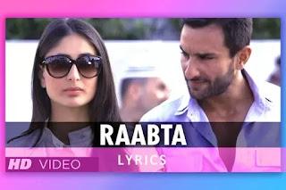राबता, Raabta Hindi Song  Lyrics and Karaoke from the movie Agent Vinod