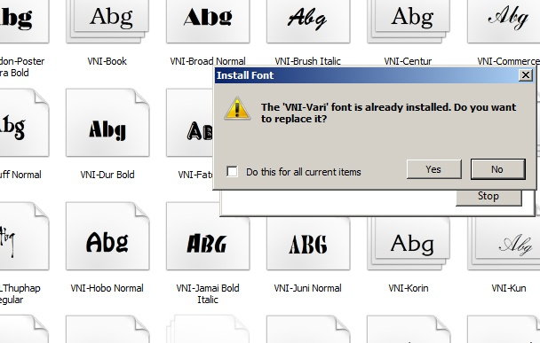 Hướng dẫn cài đặt Font VNI Full trên máy tính 4