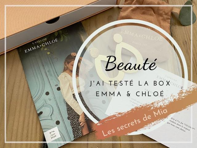 Contenu de la box Emma et Chloé : bijou, édito et coffret