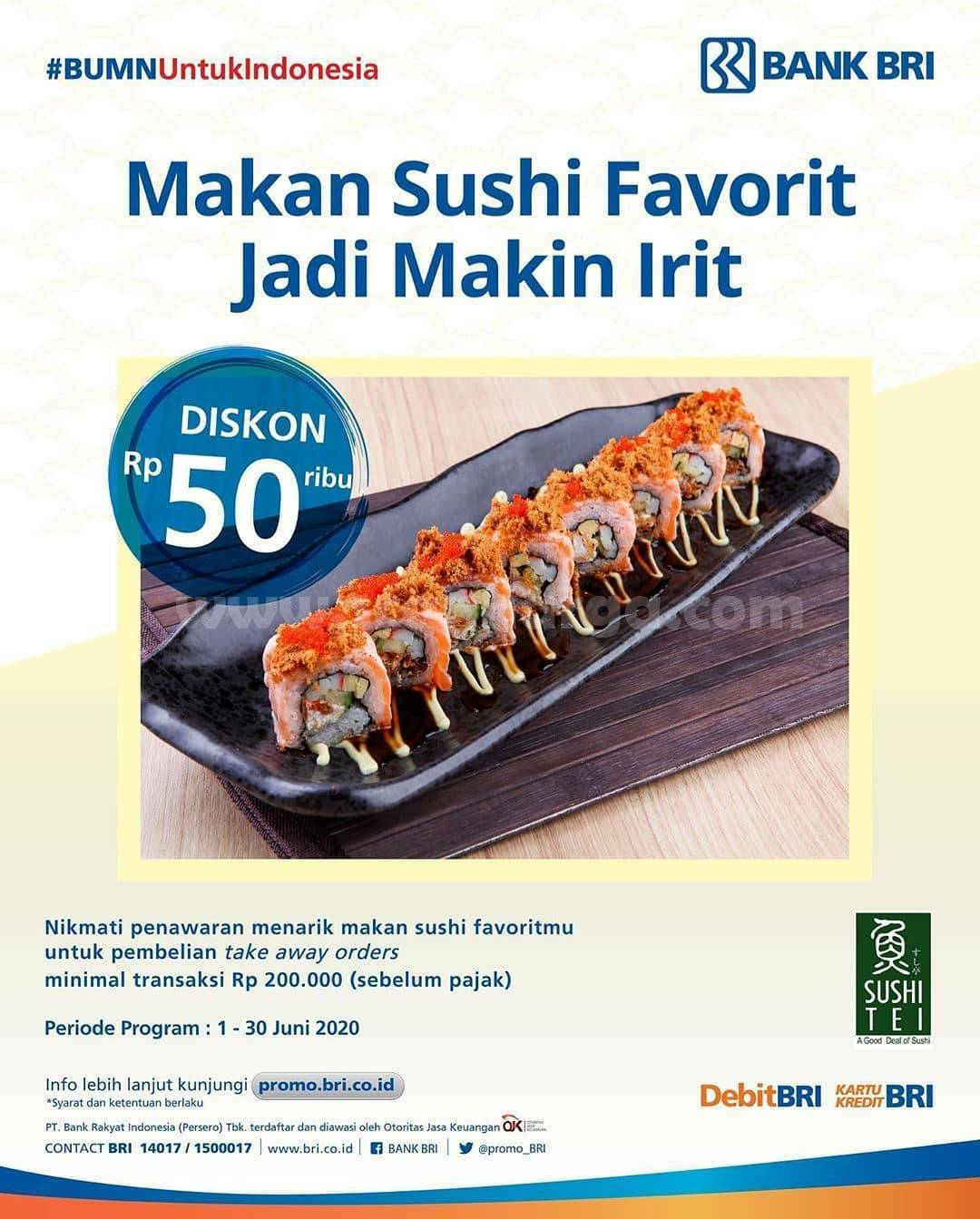 Promo Sushi Tei  Diskon Sushi Tei Juni 2020