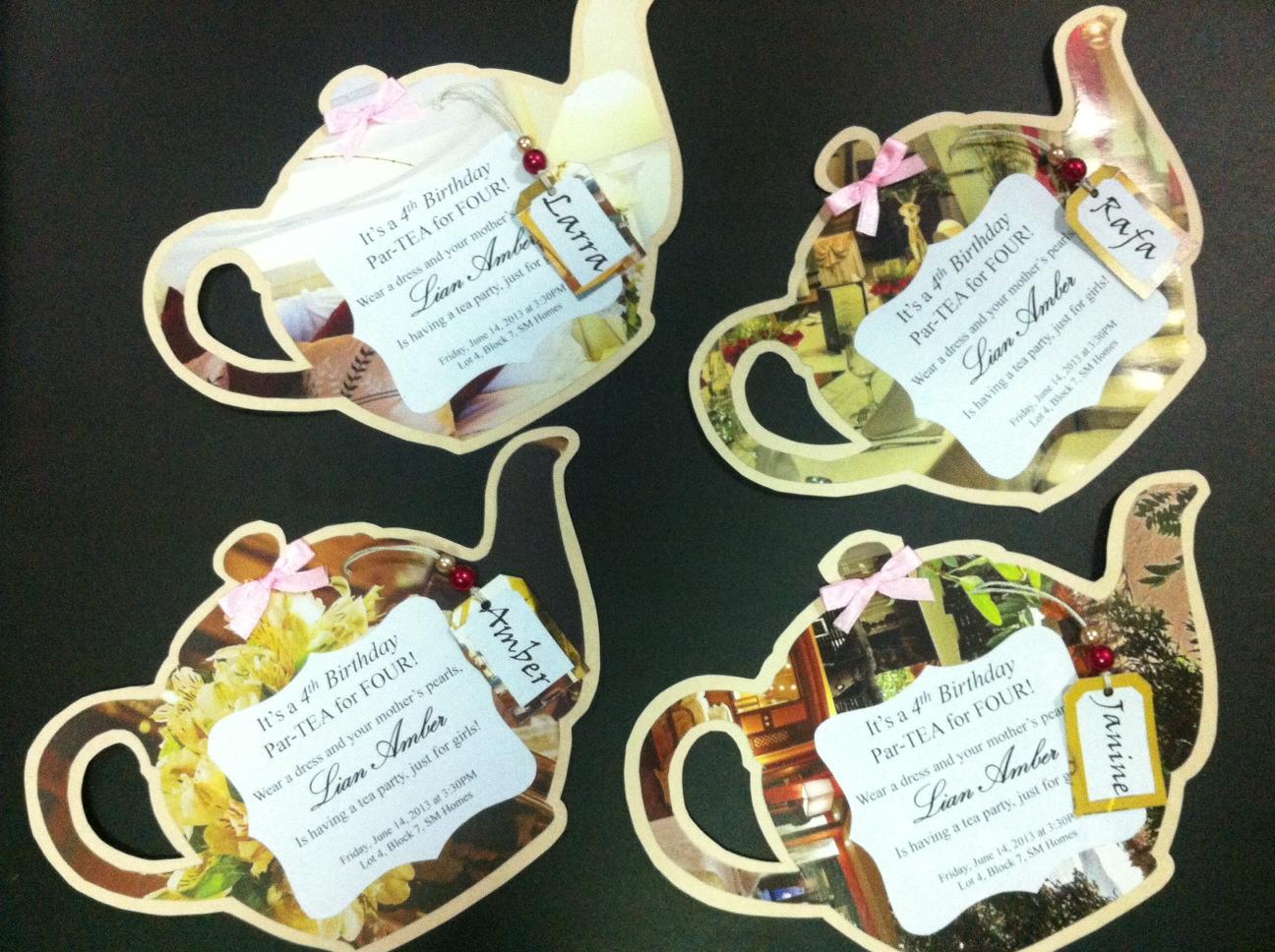 bunay's little corner: Fun DIY: Tea Party Invitations