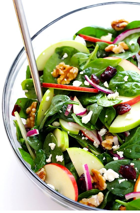 My Favorite Apple Spinach Salad