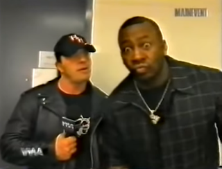 WWA The Inception 2001 - Stevie Ray doesn't want to look like a roody poo fruit booty