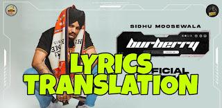 Burberry Lyrics in English | With Translation | – Sidhu Moose Wala