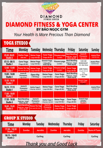 medical fitness center red diamond building