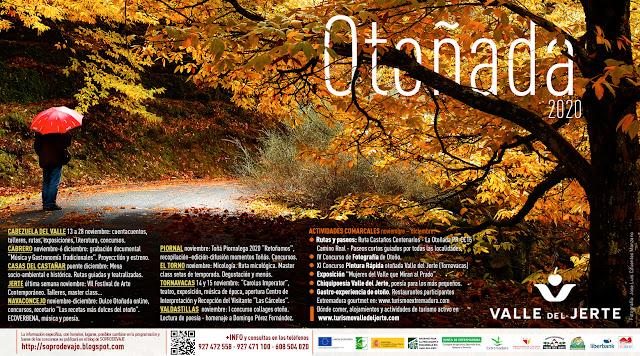 Cartel oficial OTOÑADA 2020, Valle del Jerte