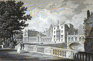 St John's College, Cambridge  from Memorials of Cambridge  by Charles Henry Cooper (1861)