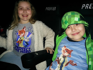 Tops and Big Boy in the Cinema. Note the lack of popcorn, they'd have eaten it all before the trailers if they had it when we sat down!