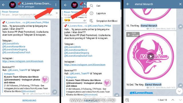 Cara Mencari Judul Drama Korea di Channel Nonton Drama Korea Telegram