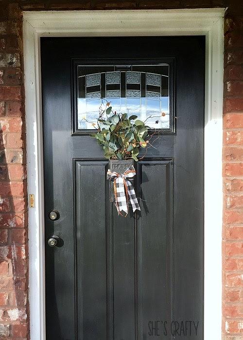 Fall vintage mailbox door hanger, alternative to a front door wreath