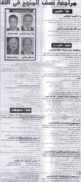 امتحان بالمواصفات - عربى سادس ابتدائى  لخبراء الجمهورية ديسمبر2016