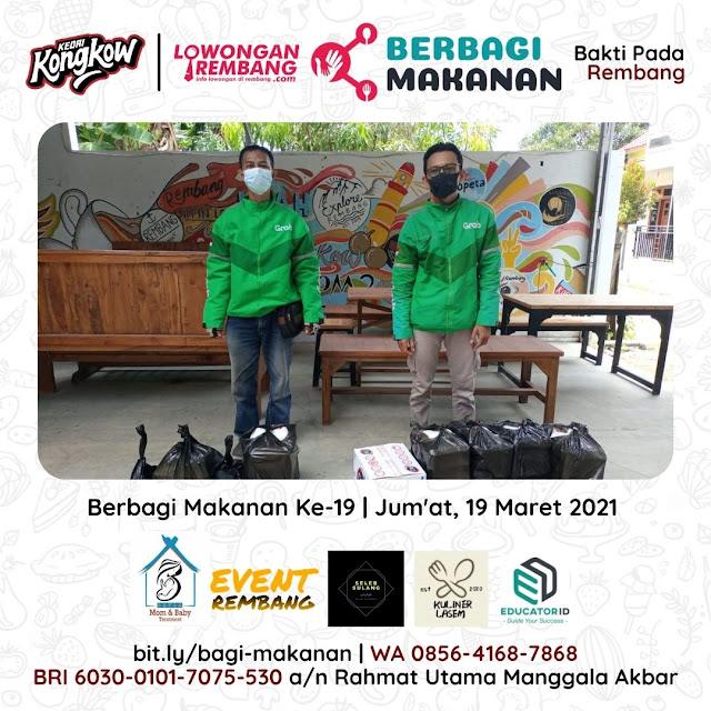 Dokumentasi Berbagi Makanan Ke-19 Dari Kedai Kongkow Rembang Dan Lowongan Rembang