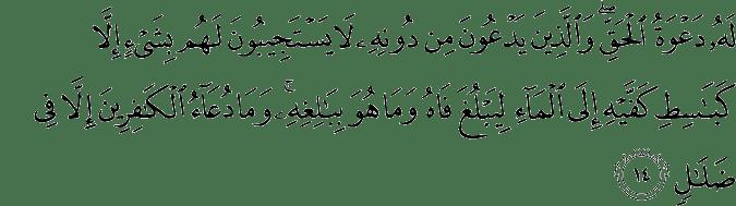 Surat Ar Ra'd Ayat 14